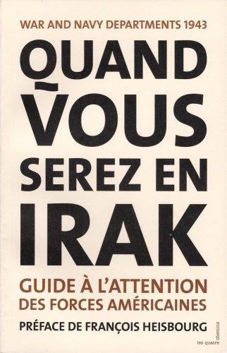 Couverture du livre Quand vous serez en Irak